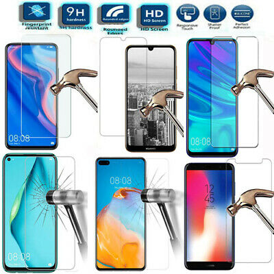 NEW Tempered Glass Screen Protector For Huawei P Smart Y6 Y6S Y7 Y9 P20 P30 P40 • 3.29£