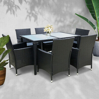 AU685.90 • Buy Gardeon Outdoor Dining Set Table And Chairs Patio Furniture Wicker Rattan Garden