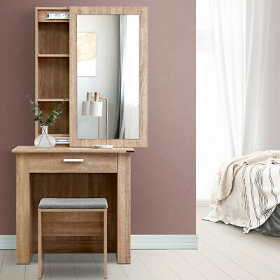 AU141.90 • Buy Artiss Dressing Table With Mirror Sliding Stool Mirrors Makeup Table Chairs Set