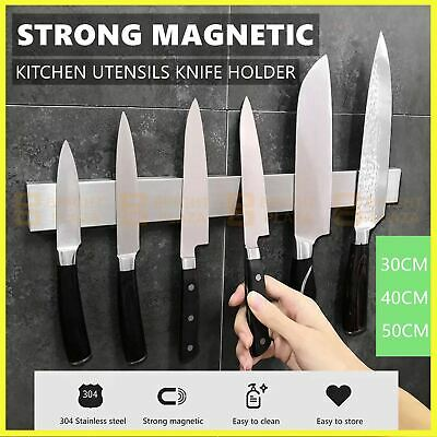 AU23.95 • Buy Magnetic Wall Mount Knife Storage Holder Utensil Rack Shelf Kitchen Chef Tool