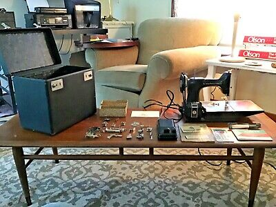 $599.99 • Buy  Antique/vintage 221 Singer Featherweight Sewing Machine - Works!!  With Extras!