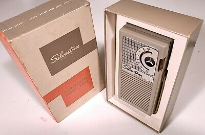 $ CDN76.11 • Buy SILVERTONE 5 TRANSISTOR RADIO MODEL 8204 VINTAGE 1957 W/ ORIGINAL BOX