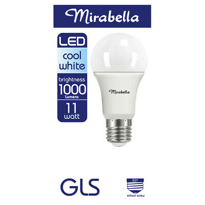 AU13 • Buy Mirabella LED Globe GLS Edison Screw 11 Watt Cool White 1 Each