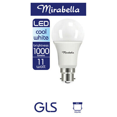 AU13 • Buy Mirabella LED Globe GLS Bayonet Cap 11 Watt Cool White 1 Each