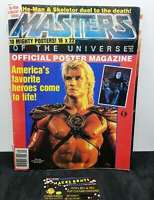 $48.97 • Buy 1987 Masters Of The Universe Official Poster Magazine - 5 Double Sided Posters