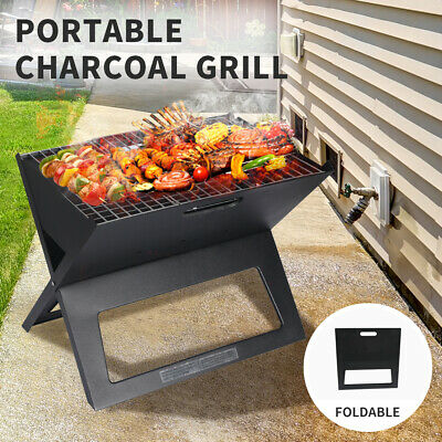 AU31.99 • Buy Portable Charcoal BBQ Grill Outdoor Camping Barbecue Set Picnic Foldable Grills