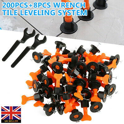 NEW 200pcs Tile Leveling System Kit Reusable Tile Spacer Wall Floor Clips Tool • 18.59£