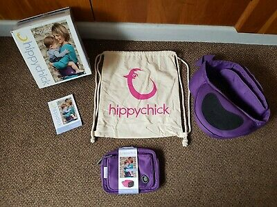 PURPLE Hippychick Hipseat Baby Carrier + POUCH + Carry Bag + Box • 25.99£