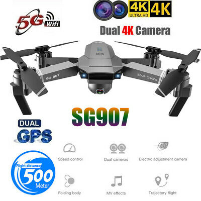 AU193.88 • Buy SG907 GPS Drone With 4K HD Dual Camera WIFI FPV RC Quadcopter Foldable Drone