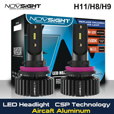 AU35.89 • Buy NOVSIGHT 2X H11/H8/H9 50W 10000LM LED Headlight Bulbs CSP 6500K High Power HID