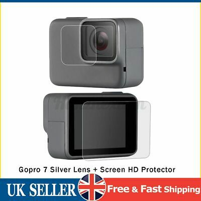 $ CDN9.76 • Buy Screen & Lens Protector For GoPro Hero 7 White/Silver Camera Tempered   @#