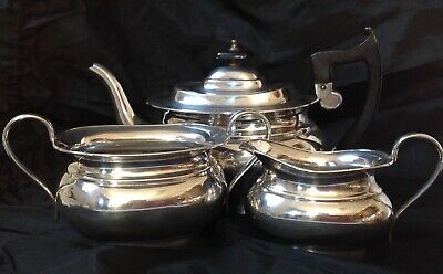 Vintage Viners Of Sheffield Silver Plated Three Piece Tea Set, A1 Quality • 75£