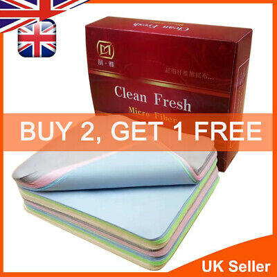 1-10x Glasses Cleaning Cloth Chamois Leather Smartphones Lens Sunglasses UK • 1.97£