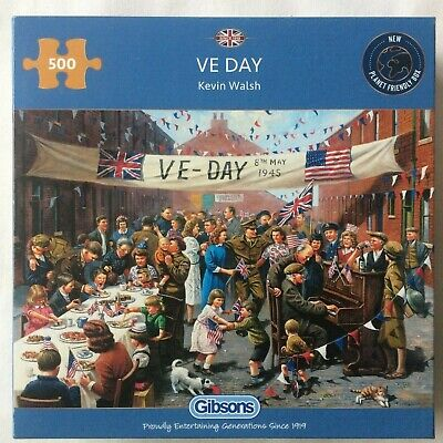 Brand New Gibsons 500 Piece Jigsaw Puzzle - VE DAY • 14.99£