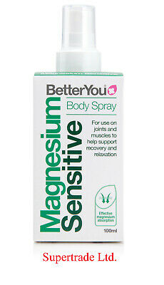 BetterYou Magnesium Oil Sensitive Body Spray For Joints & Muscles - 100ml • 10.55£