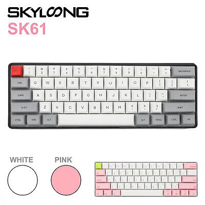 AU119 • Buy Geek SK61 Gateron 61 Keys 60% RGB Backlight Custom Mechanical Gaming Keyboard