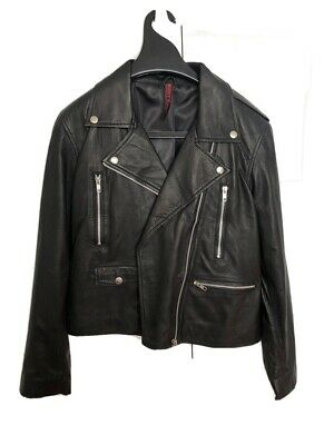 AU50 • Buy Leather Biker Jacket Hand Made In Bali (size 8-10)