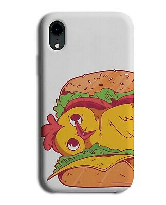 £9.99 • Buy Funny Hiding Chicken Burger Phone Cover Case Chickens Burgers Nugget Food J085