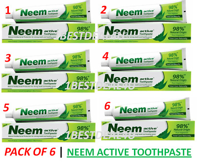 £28.99 • Buy Neem Active Herbal Complete Care Toothpaste 200 Gm     Pack Of 6   FAST SHIP