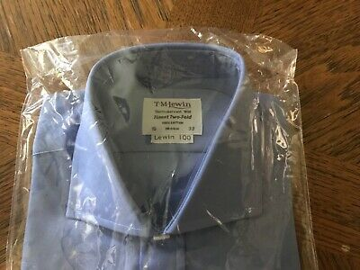 "T M Lewin French Blue Double Cuff Shirt - 15"" Short - New • 17£"