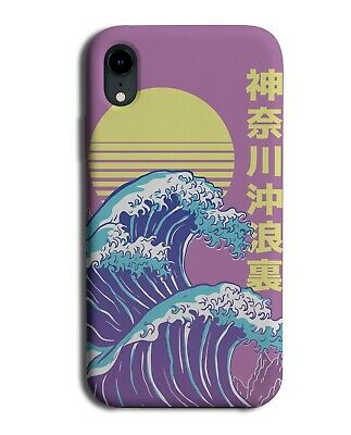 Purple Japanese Anime Waves Phone Case Cover Wave Cartoon Japan Sea Ocean J621  • 9.99£
