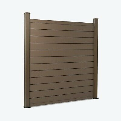 Composite Fence Panels Composite Fencing Plastic Fence Panel Wooden Fence Board  • 9£