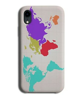 £9.99 • Buy Colourful World Map Phone Case Cover Atlas Shape Countries Continents Earth K085