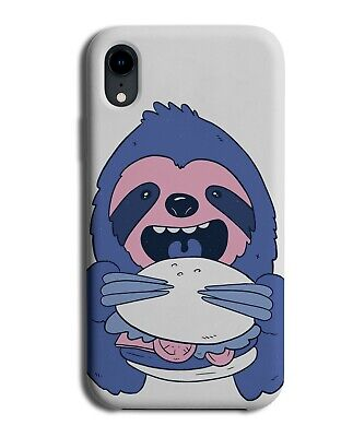 £9.99 • Buy Fat Hungry Sloth Eating Burger Phone Case Cover Sloths Design Pink Hangry K274