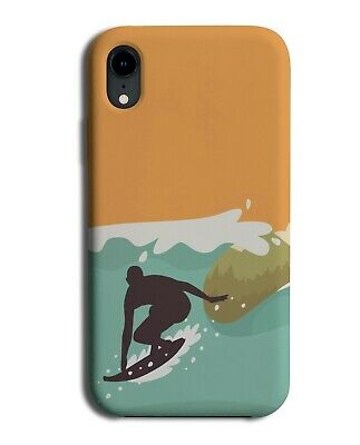£9.99 • Buy Silhouette Surfing Large Waves Phone Case Cover Big Wave Surfer Dude Mens K316