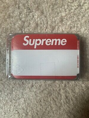 $ CDN26.52 • Buy Supreme Name Badge Stickers Pack Of 100 RED FW20 NEW 100% Authentic Fast Ship