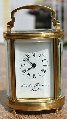 AU838.60 • Buy Vintage English Charles Frodsham 8 Day Oval Carriage Clock