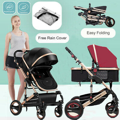AU178.66 • Buy Baby Stroller Travel System High View Newborn Jogger Carriage Kids Pushchair