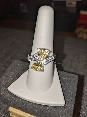 $30 • Buy Charles Winston For BL Yellow & White Cubic Zirconia S/S Ring Size 8