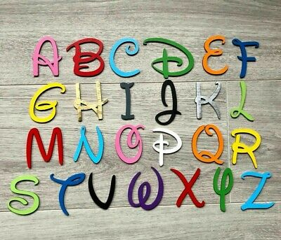 £0.99 • Buy Disney Wooden Letters & Numbers 3mm  Thick BIRCH Alphabet Letters & Numbers