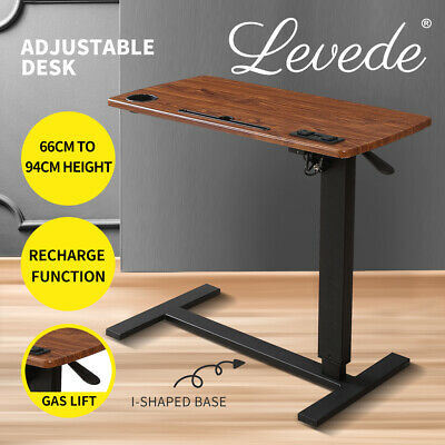 AU119.99 • Buy Levede Standing Desk Height Adjustable Sit Stand Office Computer Table Shelf USB