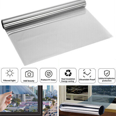 50cm One Way Mirror Window Film Privacy Reflective Glass Sticker Effect Tint • 6.99£