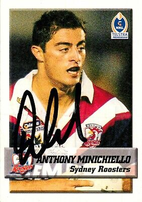 AU19.99 • Buy ✺Signed✺ 2002 SYDNEY ROOSTERS NRL Premiers Card ANTHONY MINICHIELLO
