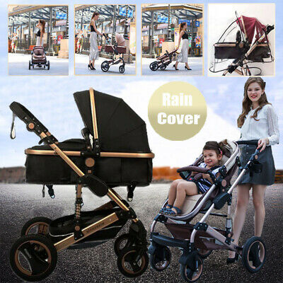 AU179.66 • Buy Aluminum Baby Stroller High View Carriage Travel Buggy Foldable Pram Pushchair