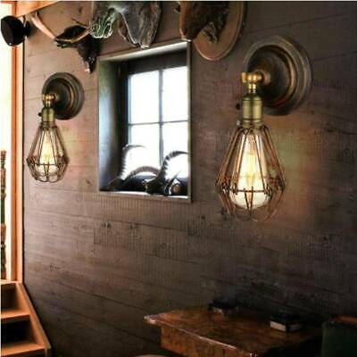 £9.99 • Buy Retro Vintage Industrial Wall Mounted Lights Rustic Sconce Lamp Shade Fixture