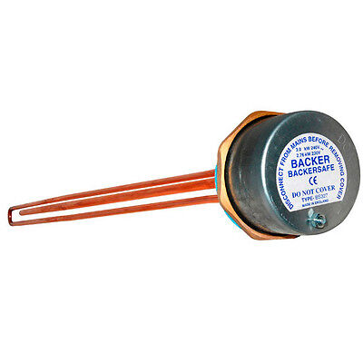 Backer  Backersafe 27  Immersion Heater Complete With Thermostat- BAK327 • 22.50£