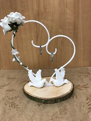 Hand Made Ring Holder Pillow Wedding Ring Bearer Cushion Engagement Party White  • 9.99£
