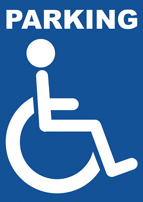 £6.99 • Buy Large & Small Disabled Parking ADHESIVE Sticker SIGN NOTICE