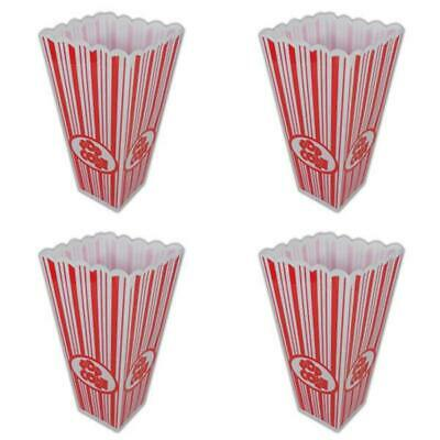 Reusable Popcorn Boxes - Plastic Tub Movie Party Cinema Bucket Container New • 7.66£