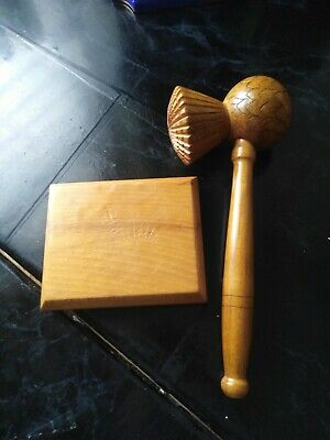 £14.99 • Buy Handmade Wooden Gavel And Sound Board Block Judge Auction Sale Auctioneers Mason