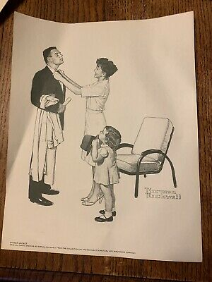 $ CDN13.32 • Buy Norman Rockwell Signed Print DINNER JACKET Vintage Original Pencil Drawing