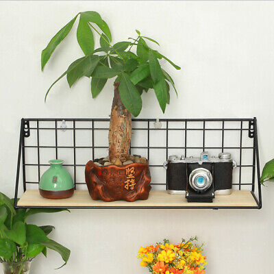 Wall Hanging Window Box Flower Pot Rack Plant Pot Planter Black Support L • 9.81£