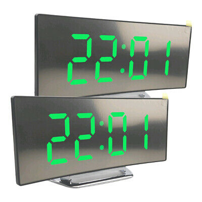 2pcsLED Display Alarm Clock Digital Projection Clock With 12/24 Hours Clock • 16.68£