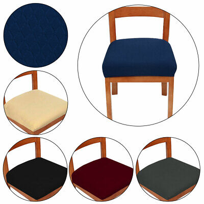 Dining Chair Seat Covers Spandex Slip Banquet Dinning Protective Stretch Covers • 4.42£