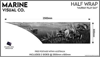 AU395 • Buy Murray River  Half Boat Wrap To Suit Tinny Quintrex Lures Fishing Sticker Decal