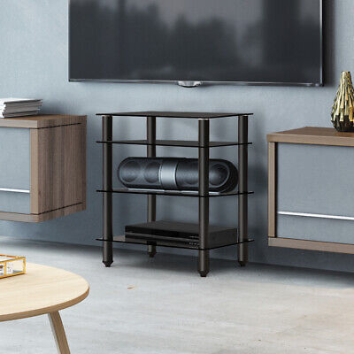 AU125.90 • Buy Artiss 4 Tiers TV Stand Entertainment Unit HiFi Media CD Shelf Storage Cabinet